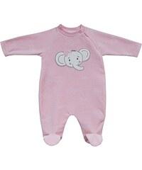 Schnizler Baby - Mädchen Schlafstrampler Schlafanzug Nicki Elefant