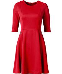 BODYFLIRT Scuba-Kleid/Sommerkleid 3/4 Arm in rot von bonprix