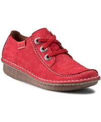 Halbschuhe CLARKS - Funny Dream 261139854 Red Nubuck