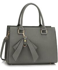 LS fashion LS dámská kabelka s mašlí LS00374A šedá
