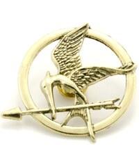 JewelsHall Hunger Games brož Reprodrozd bronzová