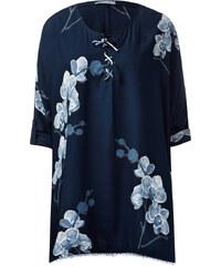 Cecil Print-Tunika im Poncho-Style - deep blue, Herren