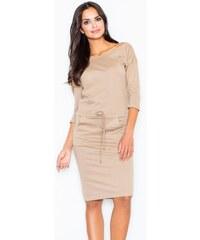 Světle hnědé krátké šaty - Glami.cz 846912ba2c