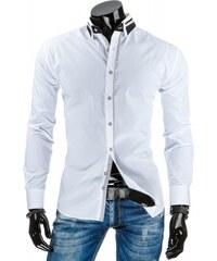 Pánská košile slim fit Baretheon bílá - bílá