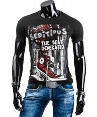Pánské tričko Seditious černé - černá