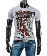 Pánské tričko Seditious šedé - šedá