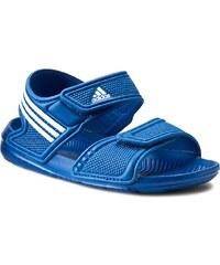 Sandály adidas - Akwah 9 K S74649 Eqtblu/Ftwwht/Ftwwht