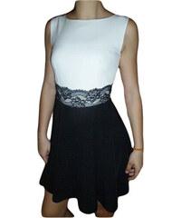 00* Dámské společenské šaty černobílé