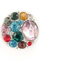 JewelsHall Knoflík Cvak - s kamínky - vícebarevné - 1,8 cm