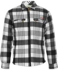 Košile Lee Cooper Lined Fleece dět. černá/bílá