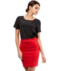Červená sukně MOE 011