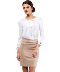 Béžová sukně MOE 011