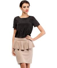 Béžová sukně MOE 010