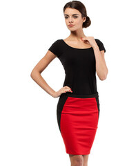 Červená sukně MOE 009