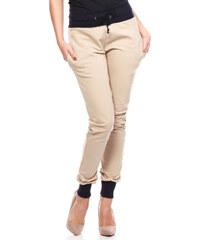 Béžové teplákové kalhoty MOE 141
