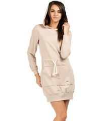Béžové šaty MOE 116