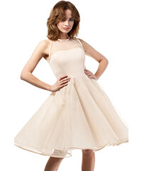 Béžové šaty MOE 148