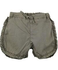 Dirkje Dívčí šortky s volánky - khaki