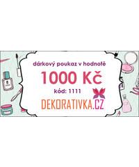 Elektronický dárkový poukaz na nákup zboží v hodnotě 1000 Kč