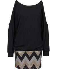 BODYFLIRT boutique Kleid mit Pailletten in schwarz von bonprix