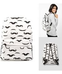 Lesara Sac à dos avec moustaches imprimées