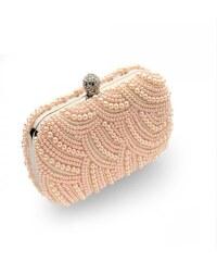 LA FEMME Svatební perlové psaníčko