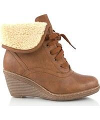 Kotníkové boty na klínku N13312KH