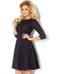 c5b6d04f4c5 Malé černé šaty s tříčtvrtečním rukávem