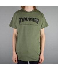 Pánské tričko Thrasher Skate Mag army green