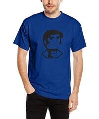 Touchlines Unisex/Herren T-Shirt Captain Future Bild, royal, L, B1617