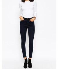 ASOS - Ridley - Jean skinny taille haute - Noir noirci Petunia - Bleu