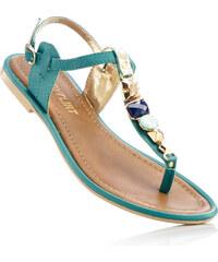 BODYFLIRT Sandales en cuir bleu chaussures & accessoires - bonprix