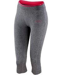 Fitness kalhoty - Šedý melír a růžová XS