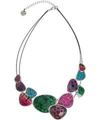 Desigual barevný náhrdelník Chapas Purple Jungle