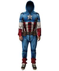 Mr. GUGU & Miss GO Captain America Onesie Front