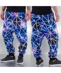 Just Rhyse Galaxy Stripes Sweat Pants Purple