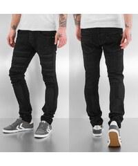 Bangastic Printed Skinny Fit Jeans Black