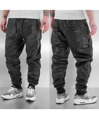 Just Rhyse Beat PU Sweat Pants Black