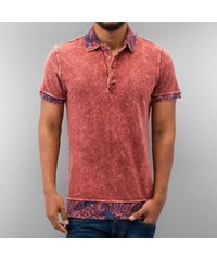 Just Rhyse Paisley Polo Shirt Red