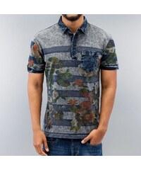 Just Rhyse Flower Polo Shirt Black