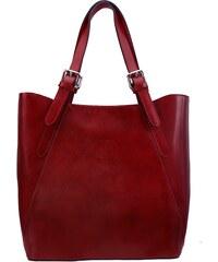 Kožená kabelka Vera Pelle 0145 červená