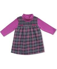 Schnizler Mädchen Kleid Set Karo Schleifchen 2 Tlg. mit Langarmshirt