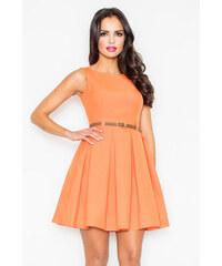 Figl Šaty M083 oranžová