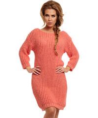 Lemoniade Korálové svetrové šaty LS157