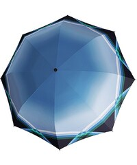 Doppler Stockschirm, Langschirm »CARBONSTEEL - Cross Over«, blau