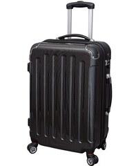 JSA® Hartschalentrolley mit 4 Doppelrollen, »Carbon Look«