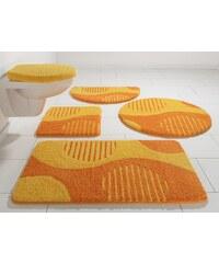 Badematte, Rund, my home Selection, »Amrum«, Höhe 15 mm, Microfaser, rutschhemmender Rücken