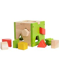 EverEarth® Steckwürfel aus Holz mit 12 Holzförmchen »Sortierwürfel«