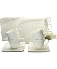 Kaffeeservice Porzellan 18 Teile Java CreaTable weiß