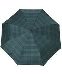 Doppler Regenschirm, Taschenschirm grün »Carbonsteel Karo«